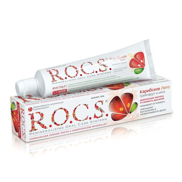 Зубная паста ROCS Грейпфрут и Мята 74г
