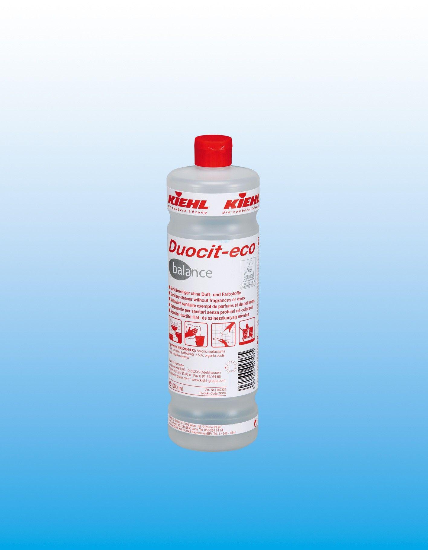 Средство для санитарных помещений, без цвета и запаха, канистра 10 л, Duocit-eco balance, Johannes Kiehl KG