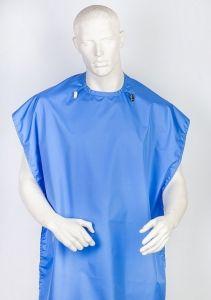 Фартук защитный Clean+Safe, голубой,  SMALL - I (У) 70х75см