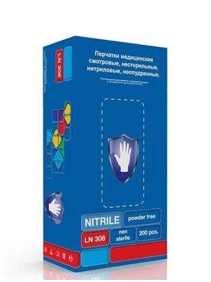 Перчатки нитриловые фиолетовые размер M, 200 шт, SC LN 308