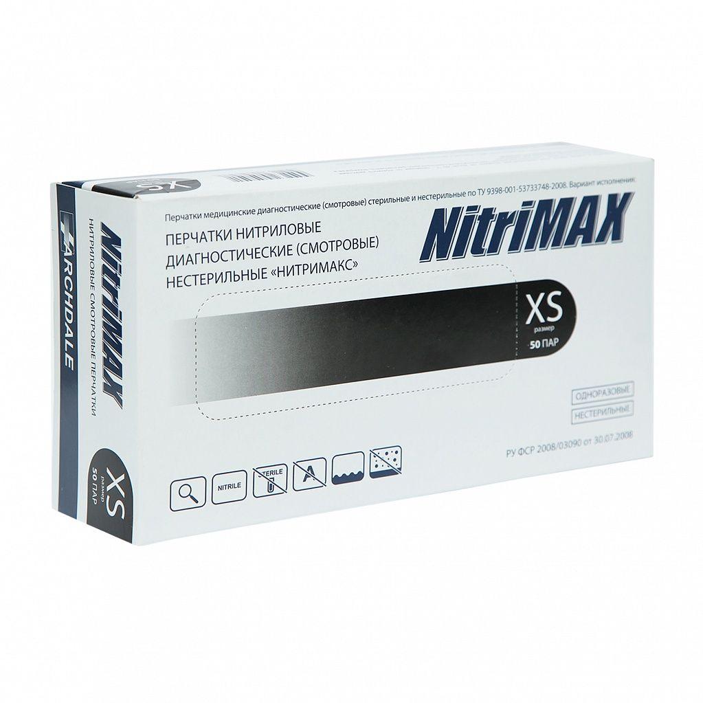 Перчатки нитриловые, черные, XL, 100 шт, NitriMax ARCHDALE
