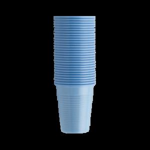 Стаканы пластиковые голубые, 100 шт EURONDA