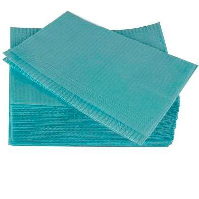 Салфетки процедурные 3-х слойные 33х45см, голубые, 500 шт, ООО Дисполэнд