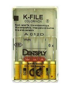 Инструмент ручной Maillefer K-File Colorinox №15 28мм 6шт A012D02801500