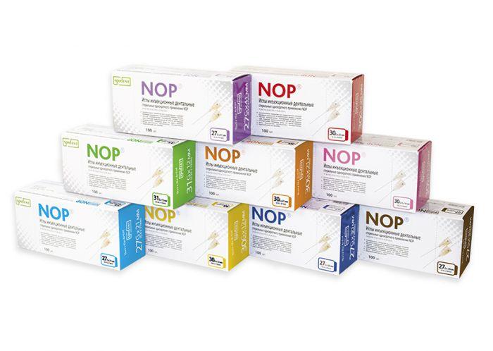 Иглы инъекционные дентальные стерильные однократного применения NOP 30Gx16мм  (уп/100шт), Spident