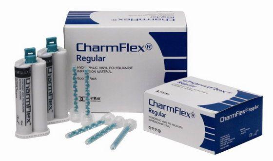Материал стоматологический оттискной CharmFlex Regular (ЧамФлекс Регулар) 2 картриджа 50 мл + 6 смесительных наконечников, DentKist