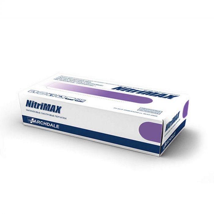 Перчатки нитриловые фиолетовые размер М, 100 шт, ARCHDALE