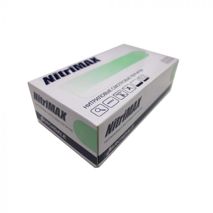Перчатки нитриловые зеленые размер М, 100 шт, ARCHDALE