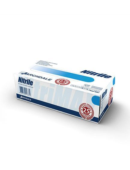 Перчатки нитриловые голубые размер M, 100 шт, Nitrile ARCHDALE