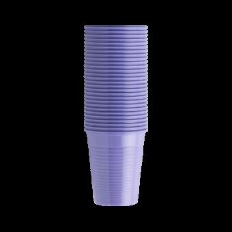 Стаканы пластиковые лиловые, 100 шт EURONDA