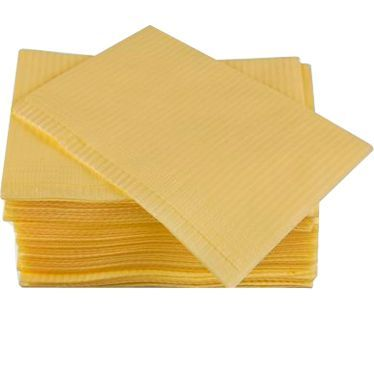 Салфетки процедурные 3-х слойные 33х45см, желтые, 500 шт, ООО Дисполэнд