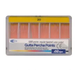 Гуттаперчевые штифты Meta Dental №20 (120шт)
