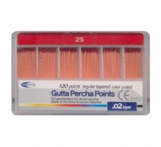 Гуттаперчевые штифты Meta Dental №25 (120шт)