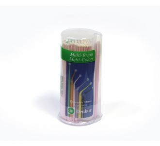 Аппликаторы Denbur Multi-Brush Small, розовые, диспенсер 100шт