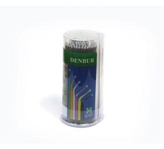 Аппликаторы Denbur Multi-Brush Extra Small, черные, диспенсер 100шт