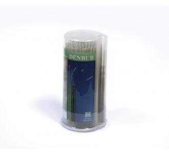 Аппликаторы Denbur Nano-Brush короткие черные, диспенсер, 120шт