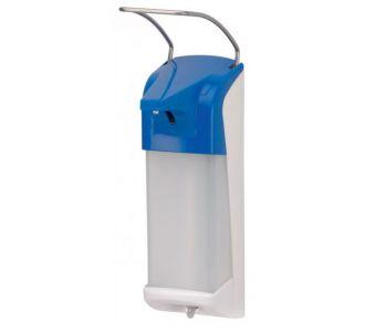 Настенный локтевой дозатор Ingasept ERT 4400704 для жидкого мыла и антисептика, цвет синий
