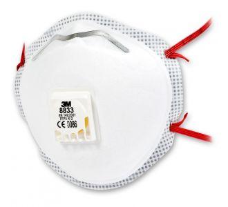 Защитная маска 3M 8833 класс защиты 3 FFP3 R D, 1 шт