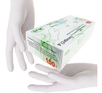 Перчатки нитриловые белые, размер S, 200 шт, SFM-SUPERSOFT