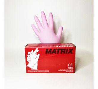 Перчатки нитриловые розовые размер XS, 100 шт, MATRIX Pink Nitrile