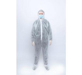 Защитный комбинезон, белый, спанбонд 40 гр, XXL, 1 шт, Россия