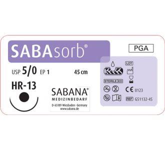 Sabana Medizinbedarf Sabasorb 5-0 игла тупоконечная HR-13, окр.1/2, цвет фиолетовый, 45см,