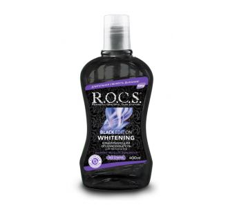 Ополаскиватель ROCS Black Edition отбеливающий 400мл