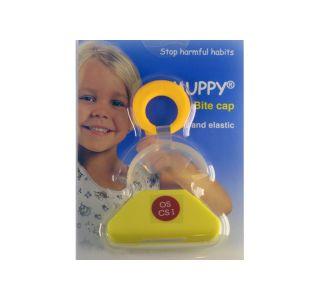 Вестибулярная пластина Dr. Hihz Dental MUPPY с козырьком, желтая, small C I