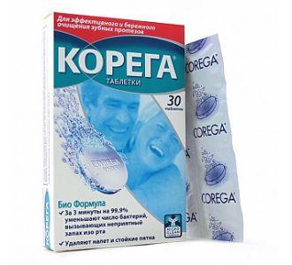 Таблетки Корега Биоформула для чистки протезов, 30шт.